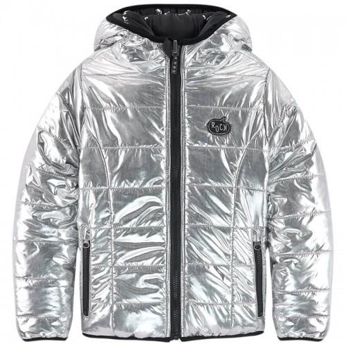 Куртка двусторонняя 3Pommes 41014-18 серебристая