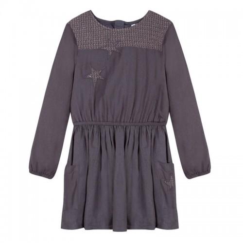 Платье 3Pommes 30164-27 серое