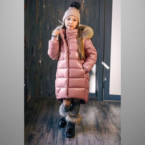 Пальто лаковое розовое 3С-818 GnK