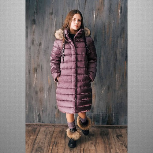 Зимнее пальто пуховик GNK ЗС-828
