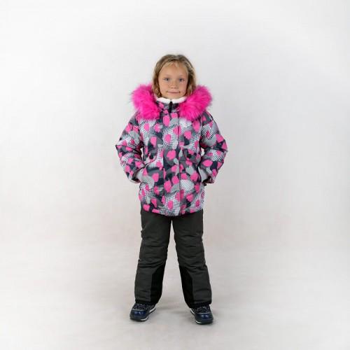 """Комплект зимний """"Лиза-принт"""" RM розовый девочке"""