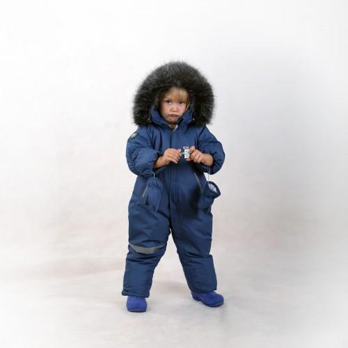 Комбинезон зимний Филиппок blue серо-голубой мальчику
