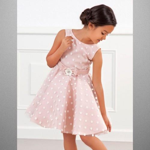Платье розовое Abel & Lula в горошек