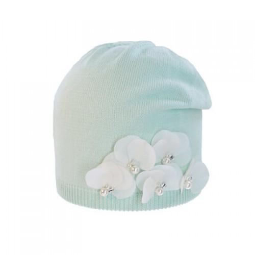 "Шапка ""Белые цветы"" Андерсен 12112шд33 мята"