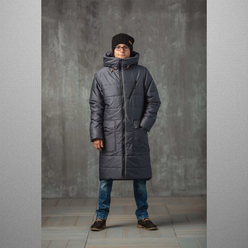Пальто Джеймс grey 638-М зимнее