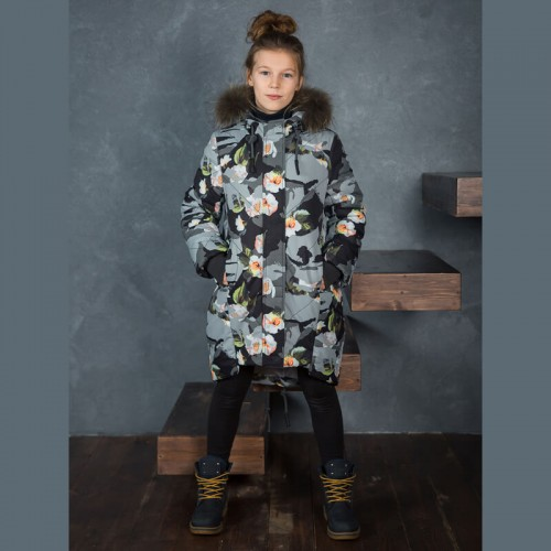 Зимнее пальто Каролина Аврора 534-Д