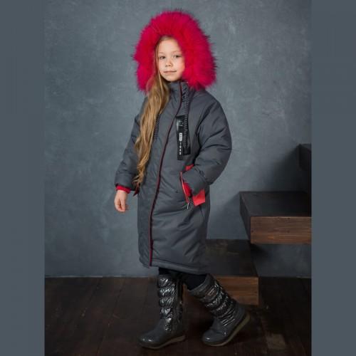 Пальто зимнее Сирена Аврора с капюшоном