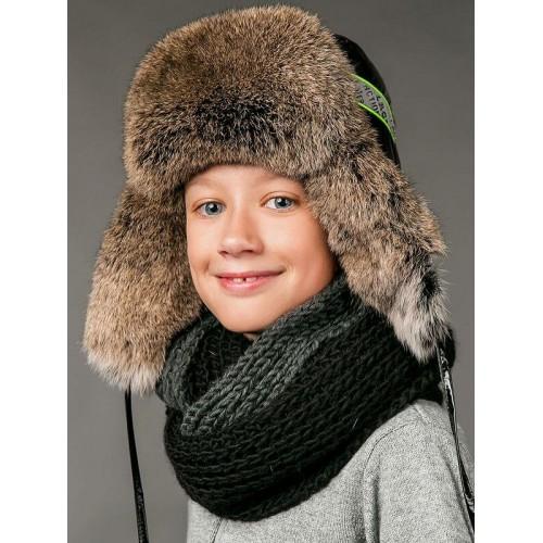 Зимняя шапка Фиона с мехом