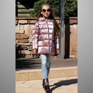 Куртка GNK С-666 розовый металлик