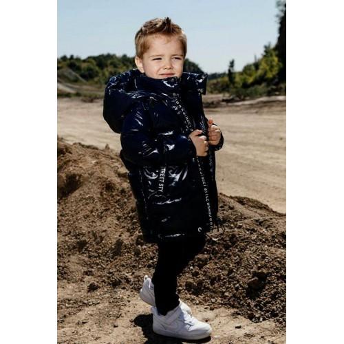 Куртка демисезонная лаковая GNK С-714 чернильный