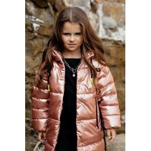 Пальто GNK С-724 пудровый металлик