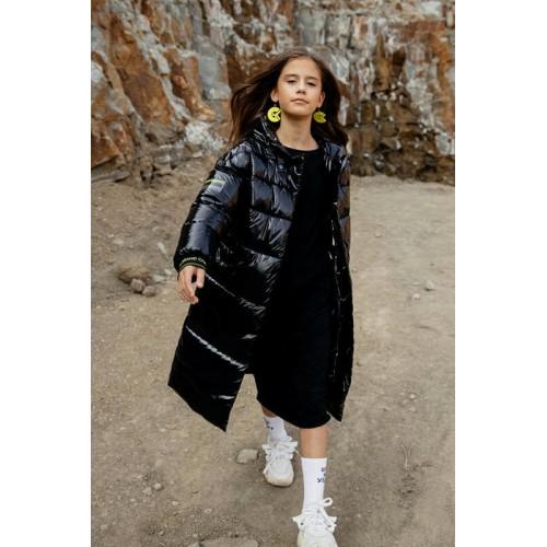 Пальто лаковое GNK С-726 черный