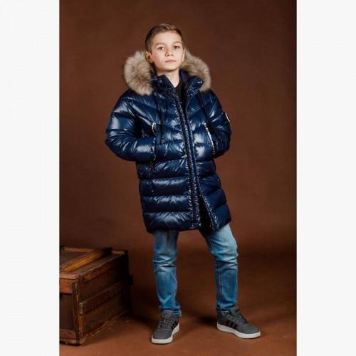 Куртка пуховик синяя GNK З-889