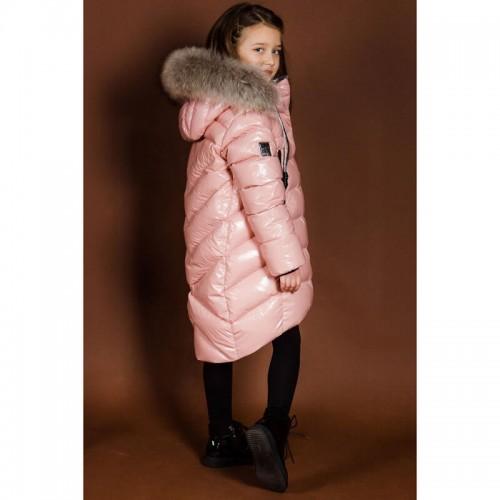 Пальто зимнее GNK ЗС-870 цвет пудра