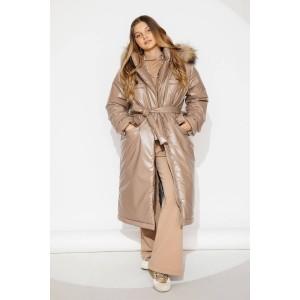 Пальто зимнее GNK ЗС-926 песочный