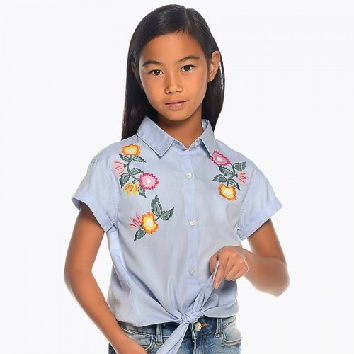 Блузка Mayoral 6104-60 голубая