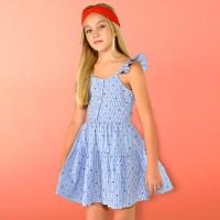 Голубое платье Mayoral 6940-4