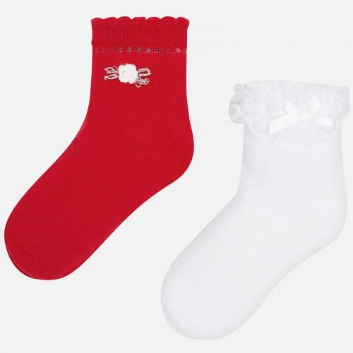 Носки Mayoral 10576-87 белый, красный