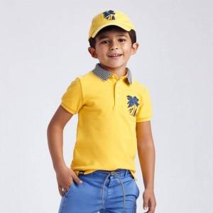 Поло с вышивкой Mayoral 3102-81 желтое