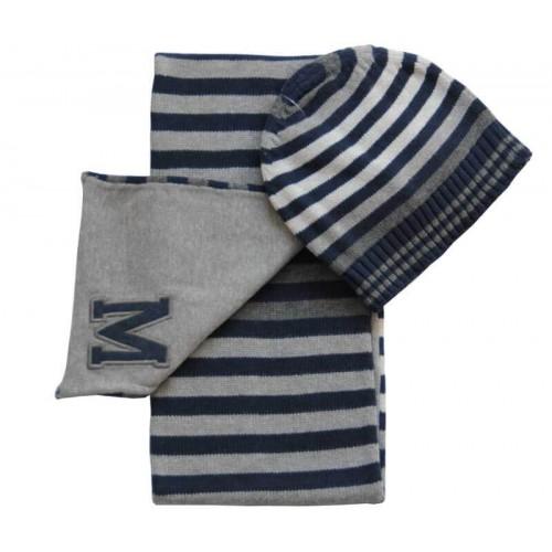 Шапка с шарфом Mayoral 10396-65 в полоску