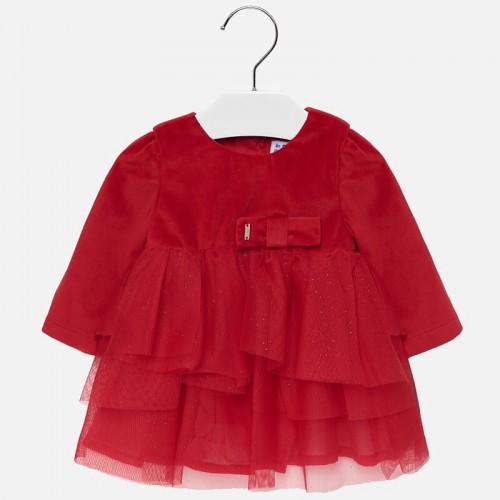 Платье бархатное красное Mayoral 2916-60