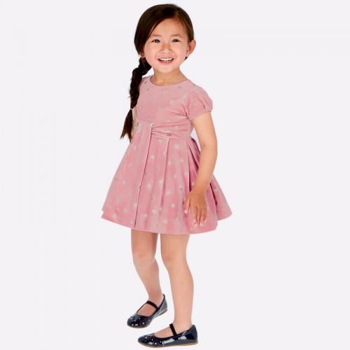 Платье в серебристый горох 4915-93 бархатное