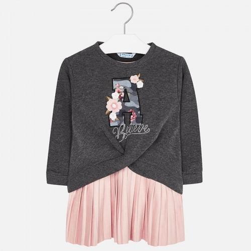 Платье с пуловером розовое 4941-75 Mayoral