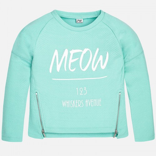 Аквамариновый пуловер Mayoral 6441-28