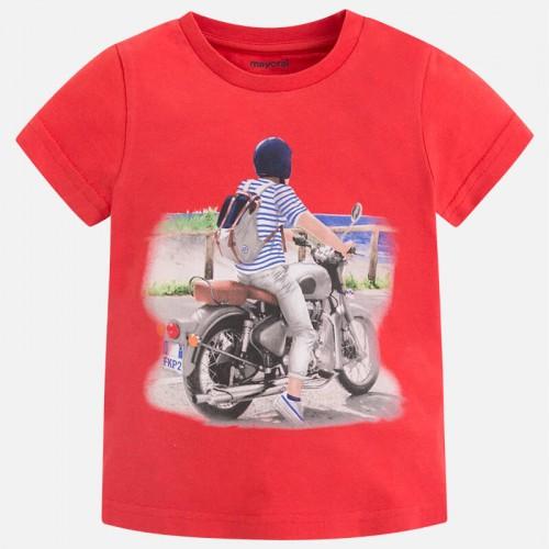 Футболка Mayoral 3069-81 с мотоциклистом
