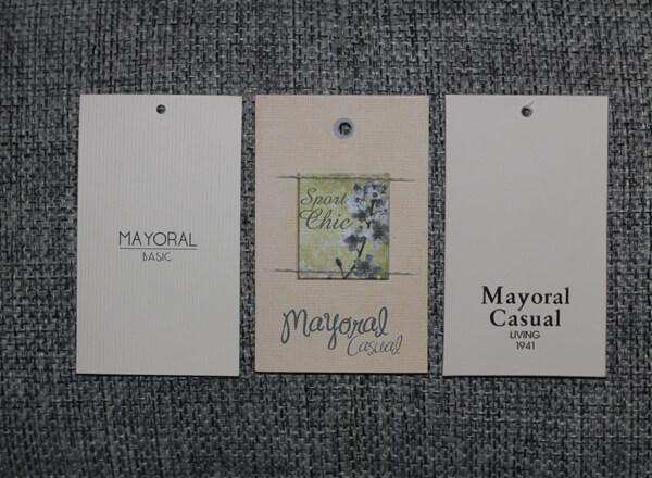 Этикетки одежды Майорал для девочек